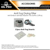 Anti Fog Drying Filter Anti Embun anti blur Xiaomi Yi & GoPro (12Pcs)