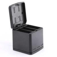TELESIN Charger Baterai 3 Slot Storage Box for GoPro Hero 5/6 - Hitam