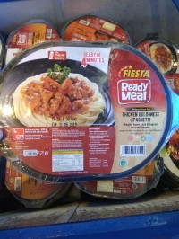 BEST SELLER fiesta Ready meal spaghetti chicken bolognese ANSD