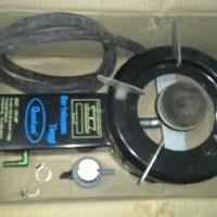 1 set kompor gas Quantum tekanan tinggi QGC 121 hp selang dan regulato