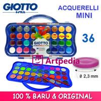 Giotto Acquerelli MINI 36 Warna Water Color Cake /Cat Air 23mm Set 36