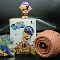 Mainan Anak Tong Mr Jumping Pirate Roulette Barrel Running Man Kwang