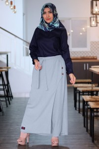 Rocella Rok Celana Muslimah/Kantor/Kerja/Santai Naomi - Silver (S-M)