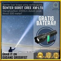 Gratis Baterai 🔥 Senter E17 LED CREE XM-L T6