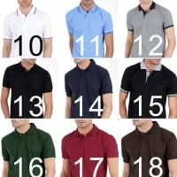 Kaos Polo Shirt Kerah Polos Pria Murah Muda Bahan Lacoste Bukan Gildan