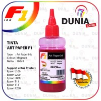 Tinta Art Paper F1 Ink for Printer Epson Warna Magenta 100ml