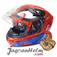 KYT Helm K2 Rider SPIDERMAN   RED BLUE   Full Face