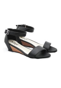 AliveLoveArts Boci Black Wedges Shoes Fashion Sepatu Wanita Termurah