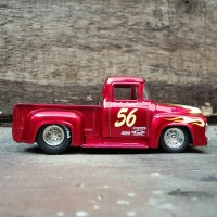 Diecast Ford F100 56 Red By Jada toys BigTime muscle