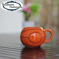 Mug Keramik Bola Basket Unik & Lucu - Mug Gelas Souvenir Cantik- MUG05