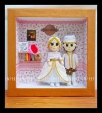 PROMO SPECIAL boneka flanel pengantin muslim modern - custom couple