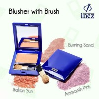 BARU ORIGINAL - INEZ Blush On Colour Contour Plus Blusher With Brush