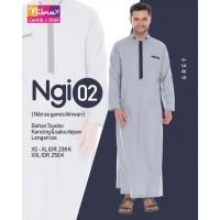 NIBRAS GAMIS IKHWAN NGI 02 ready Grey & Navy