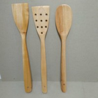 Spatula Sutil Sodet kayu Set 3 pc
