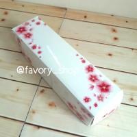 Dus Pie White Floral Uk 6 x 22 cm / Kemasan Kue Multifungsi (5pcs)