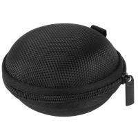 43B9 Tas Earphone Case Bentuk Bulat - D0083 - Black