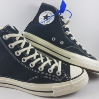Sepatu Converse All Star Chuck Taylor 70s Seventies High Black White