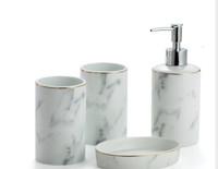 Marble Bathroom set 4 pcs