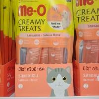 meo me-o creamy treats snack kucing varian rasa salmon flavor 15gr