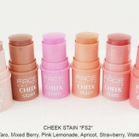 face recipe cream blush on cheek stain stick mirip city color