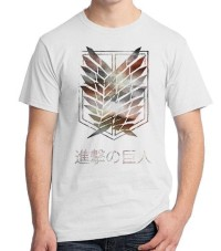 Tshirt Attack On Titan Logo - Distro Anime Kaos Oblong Ordinal Apparel