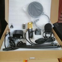 PAKET BM700 SUPER LENGKAP + Phantom Power + Sound Card + Splitter