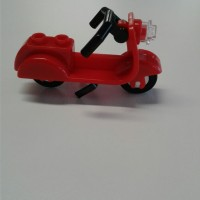 lego vespa scooter red