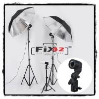 Holder Lampu Studio Socket E27 dengan Dudukan Payung