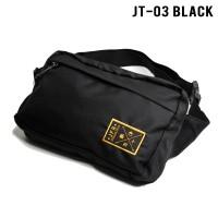 JFR Tas Pinggang Waist Bag Bahan Polyester JT03 Black