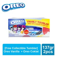 [Free Collectible Tumbler] Oreo Vanilla 137gr + Coklat 137gr