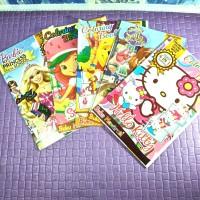 buku mewarnai anak perempuan coloring book motif cewek bagus