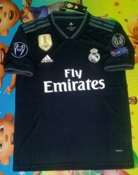 Jersey Real madrid Away 2018/2019 Full Patch UCL
