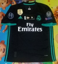 Jersey Real Madrid Away 2017/2018 Full Patch UCL