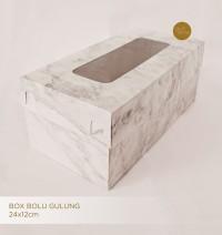 FBX_IV2512S Marble SET 25x12cm Box/Kotak Kue / Bolu Gulung