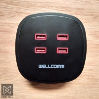 Wellcomm Travel Charger 4 USB port - Output 4.2 A max.