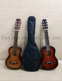 Gitar Mini Acoustic 6 Strings Cover - Ukulele 6 Senar Cover BERKUALITA
