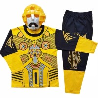 Baju Anak Kostum Topeng Superhero Transformers Bumblebee