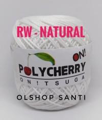 Benang Rajut POLYCHERRY Onitsuga warna RAW WHITE (Natural)