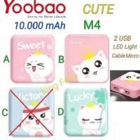 Yoobao M4 CUTE 10.000 mAh Power Bank 2 USB Powerbank Gbr Karakter Lucu