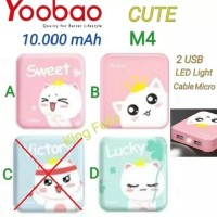 Yoobao M4 CUTE 10.000 mAh Power Bank 2 USB Powerbank Karakter Lucu