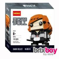 HOTSALE Lego Brick Headz Black Widow Avenger Big Head Cute Doll Decool