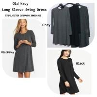 Old Navy long sleeve Swing greyblack Dress brand murah