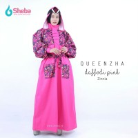 Jas Hujan Muslimah Sheba Queenzha Espresso Model Gamis