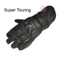SUPER TOURING sarung tangan motor kulit asli garut