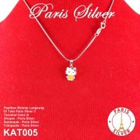 Kalung Anak Liontin Hello Kitty Silver Perak 925 lapis emas putih asli