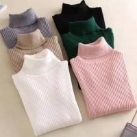 Turtle Neck Sweater Knite / Atasan Wanita Rajut
