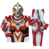 Baju Anak Kostum Dengan Topeng Superhero Ultramen