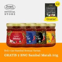 REMPAH NUSANTARA SAMBAL ALL VARIAN 120G- 4PCS FREE 2 BNG SAMBAL MATAH
