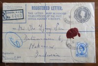Amplop Kartu Pos Prangko Inggris Kuno Lama Jadul