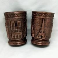 Souvenir gelas sloki Paris oleh oleh Perancis France